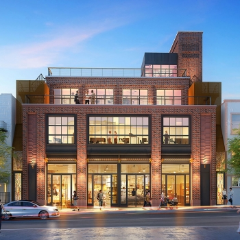 3D Photorealistic Architectural Renderings of 71 North 7th Street Multi Use Facility Elevation for Zoning and Code Consulting Group