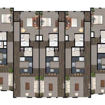 616186 2-Dimensional Digital Floor Plan of Greenview Towns for Greenview Properties