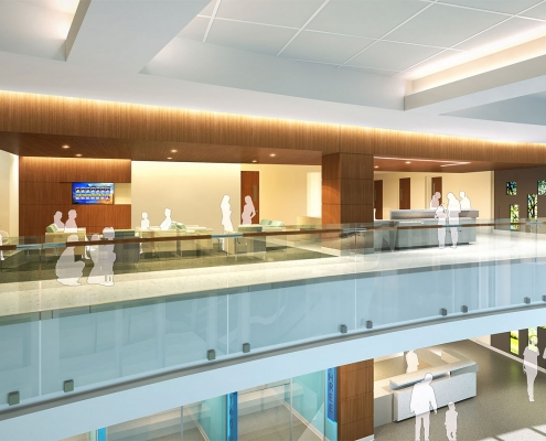3D Architectural Renderings of Horizon West Healthcare Interior for Hunton Brady Architects