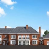 Digital Photorealistic Architectural Rendering of Ringhaven Front Elevation for Charles Walker Architect