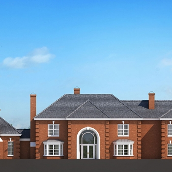 3D Rendering of Ringhaven Architectural Elevation for Charles Walker Architect