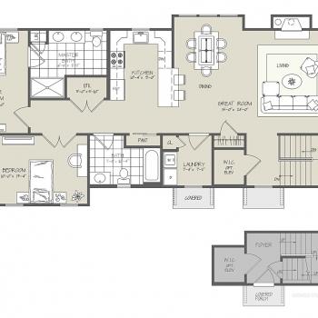 717152 Two-Dimensional Floor Plan of Westbrook Village for Greenview Properties