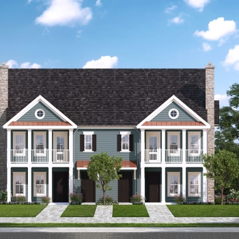 Digital Photorealistic Architectural Renderings of Westbrook Village Multi Family Home Villa Elevation for Greenview Properties