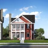 3D Multi Family Home Renderings of Westbrook Village Villa Elevation for Greenview Properties