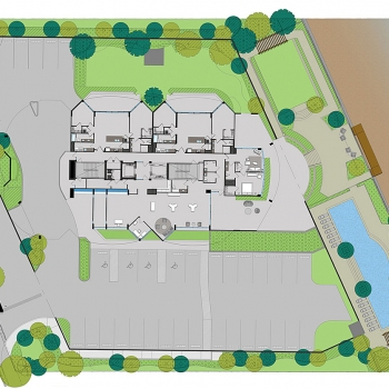 717211 Architectural Floor Plan of Max Daytona for Bayshore