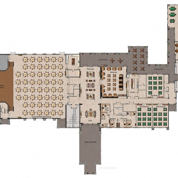 818054 2-Dimensional Floor Plan of Clubhouse for GL Homes