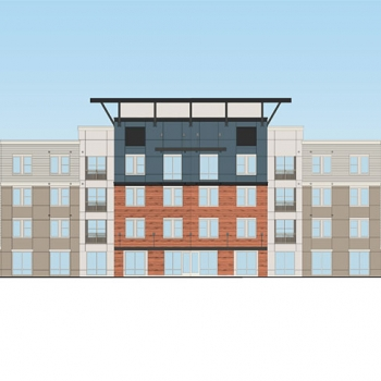 Digital Architectural Render of a Multi Family Home Elevation for Catalyst Development Partners