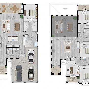 818229 Architectural Floor Plan of Marina del Palma for Sun Belt Land Management
