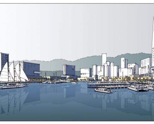 Loose Digital Rendering of NhaTrang Park Marina for TVSA