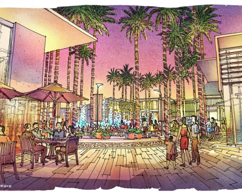 Conceptual Architectural Rendering of Universal Korea for Mulvanny