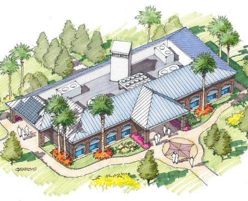 Conceptual Rendering of Simens Energy Commercial EM Building