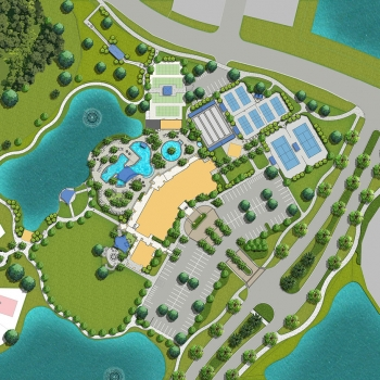 Digital Site Plan of Del Webb Amenity Multi Family Housing for Booth Design Group