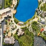 Architectural Scale Model of Hard Rock Park Site Plan for Hard Rock Cafe