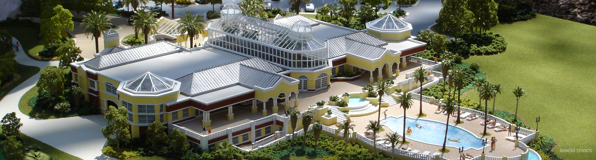 Architectural Scale Model ofThe Conservatory at Hammock Beach Resort in Palm Coast, Florida