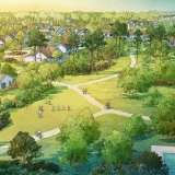 Digital Watercolor Architectural Rendering of Arden Lawn for Freehold Capital Services