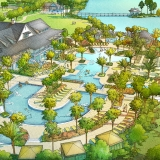 Digital Watercolor Architectural Rendering of Arden Pool for Freehold Capital Services