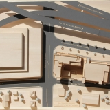 Architectural Scale Model of 600 Meeting Street from an Aerial View Made fro Basswood and Block