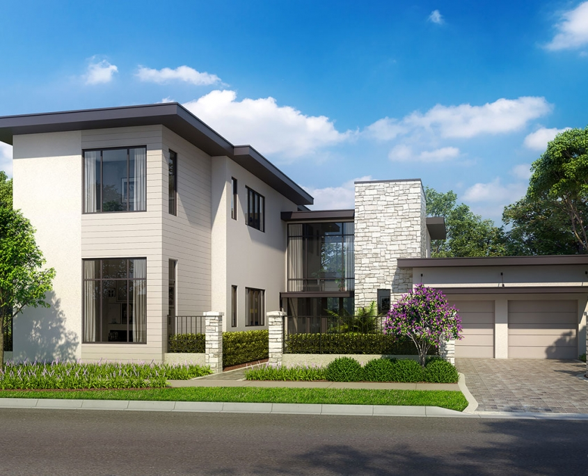 Digital Photorealistic Rendering of Single Family Home for Cahill Homes