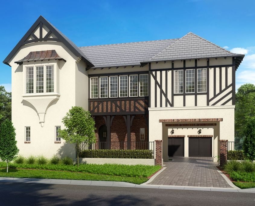 Digital Photorealistic Architectural Renderings of Single Family Home for Cahill Homes
