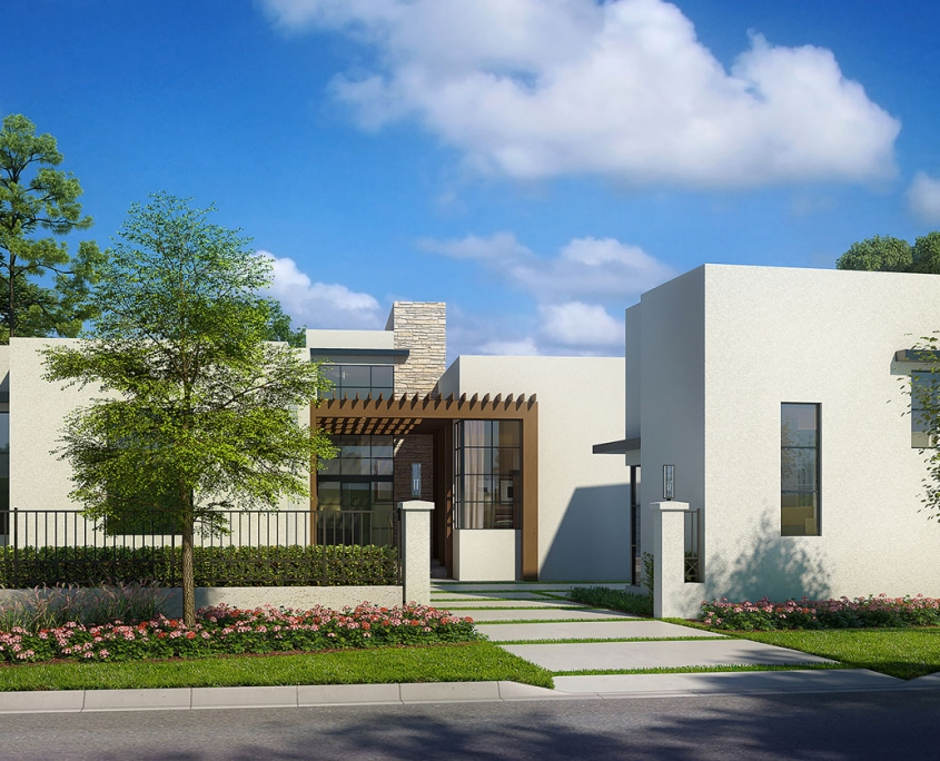 3D Architectural Renderings - Golden Oak