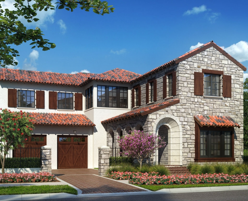 Digital Renderings of Single Family Home for Goehring & Morgan Construction