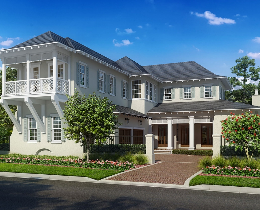 Digital Photorealistic Renderings of Single Family Home for Goehring & Morgan Construction