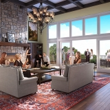 3D Architectural Renderings of Lenoir Rhyne University Liviing Room