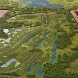 Topographic Scale Model of Bella Collina from an Aerial View