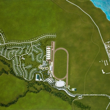 Architectural Scale Model of Beaumont Park in St Kitts from an Aerial View for EDSA