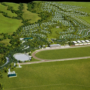 Topographic Scale Model of Beaumont Park in St Kitts from an Aerial View for EDSA