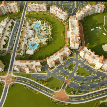 Architectural Scale Model of Reunion Resort in Kissimmee Florida