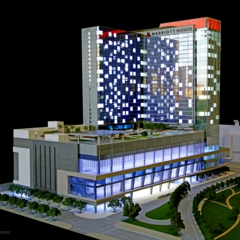 Architectural Scale Model of Marriot Marquis for Rida Development Company