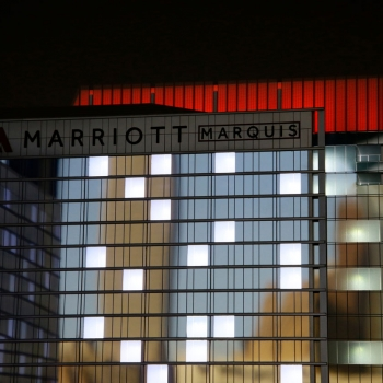 Architectural Scale Model of Marriot Marquis Exterior for Rida Development Company