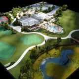 Architectural Scale Model of The Conservatory at Hammock Beach Resort