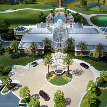 Architectural Scale Model of The Conservatory at Hammock Beach Resort Front Entrance