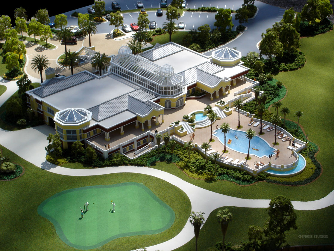 Architectural Scale Model of The Conservatory at Hammock Beach Resort Pool