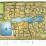 Watercolor Site Plan of Arden Home Builder Community for Freehold Capital Services
