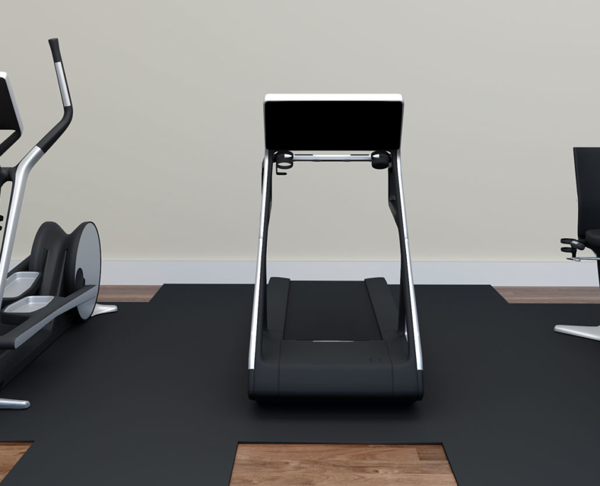 Virtual Staging of a Home Gym by Genesis Studios for Interior Desginers, Realtors, Renovators and Home Builders