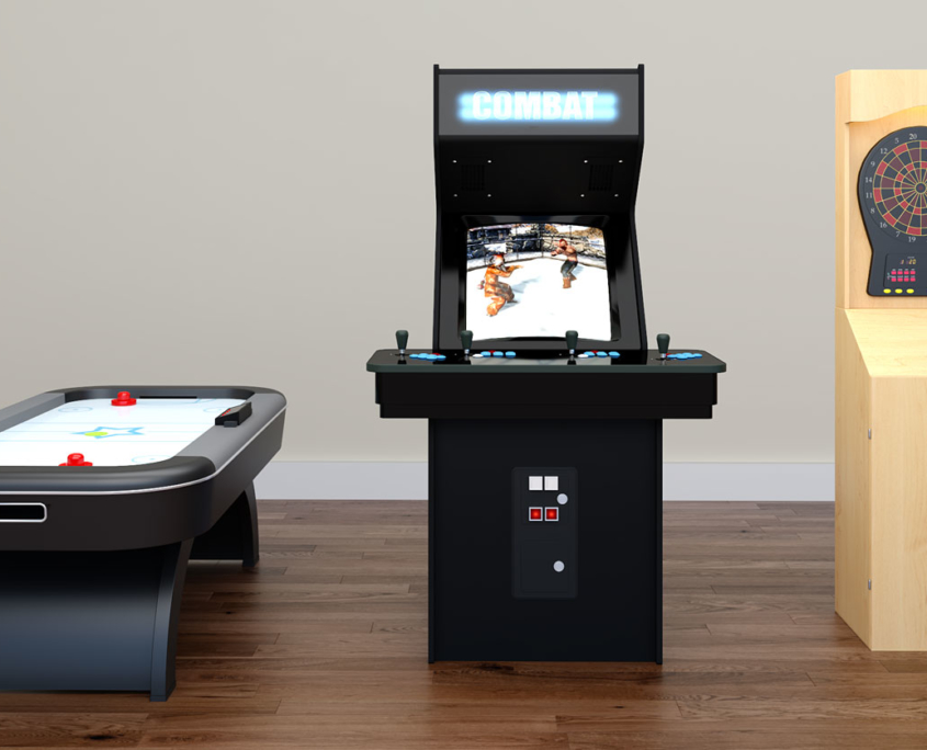 Virtual Staging of a Game Room by Genesis Studios for Interior Desginers, Realtors, Renovators and Home Builders