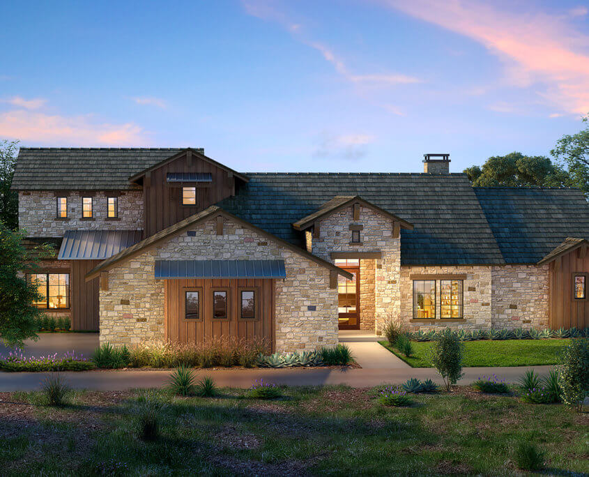 Architectural House Renderings - Boot Ranch