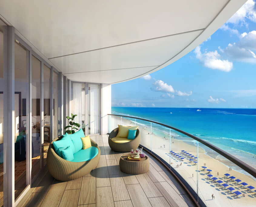 Beach view resort renderings