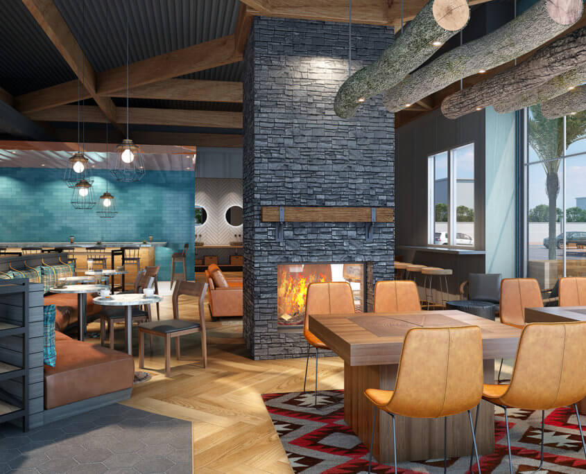Coffee Shop Interior Renderings