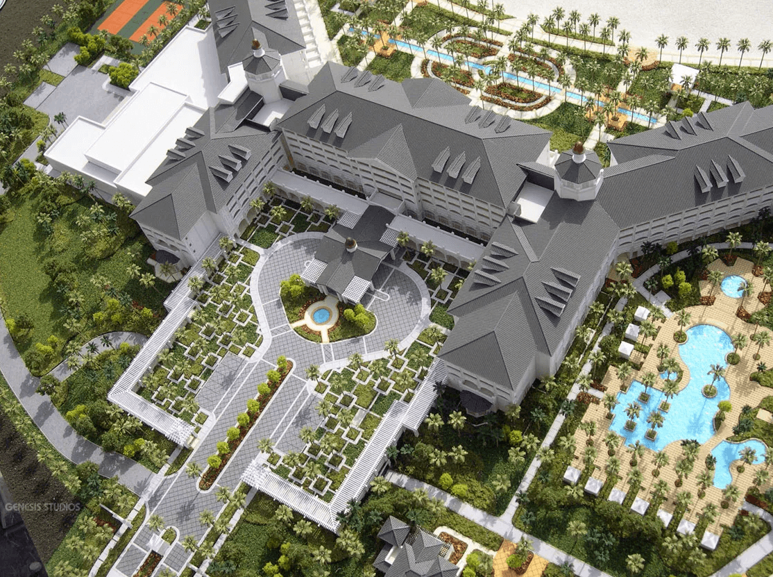 Resort architectural scale model