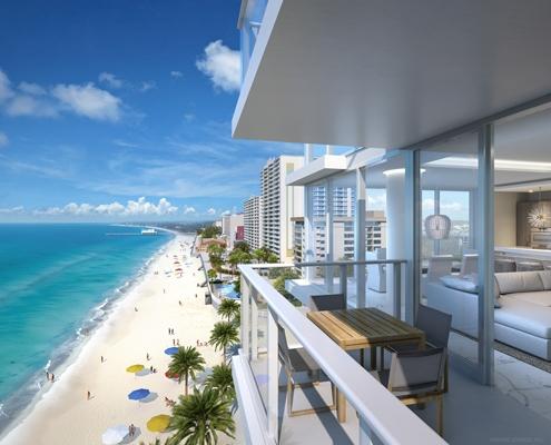 500 Atlantic Balcony View