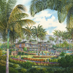 045 - Watercolor Architectural Renderings - Starwood Hotels & Resorts