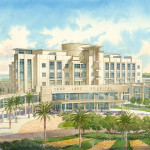 046 - Watercolor Architectural Renderings - HKS Architects