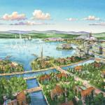 006 - Resort Watercolor Architectural Rendering - Eric Kuhne & Associates