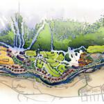 15 - Watercolor Site Plan Rendering - Centex Destination Properties