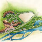 16 - Watercolor Site Plan Architectural Rendering - Centex Destination Properties