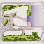 17 - Watercolor Site Plan Rendering - Mozart, France